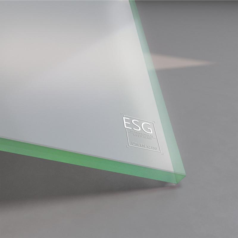 10 mm ESG Glas Satinato Milchglas-Optik