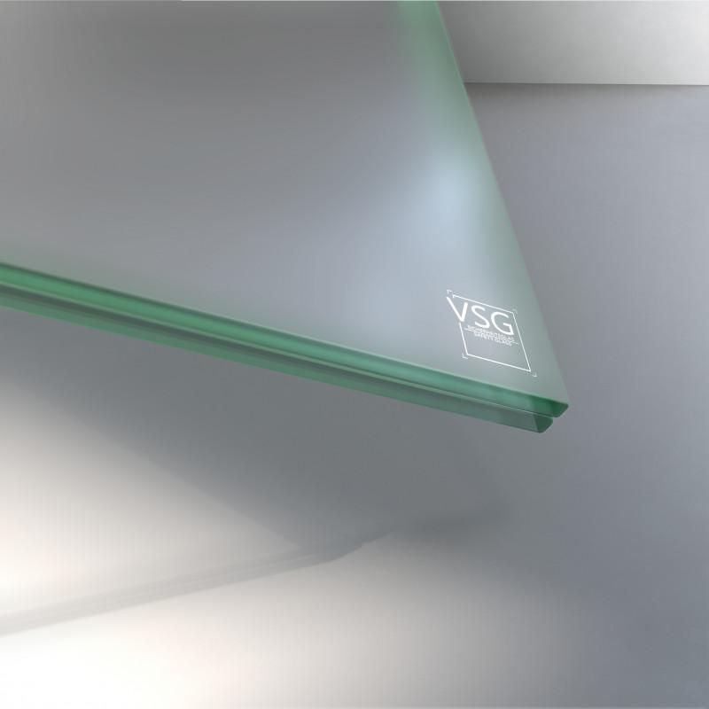 10 mm VSG Glas matt