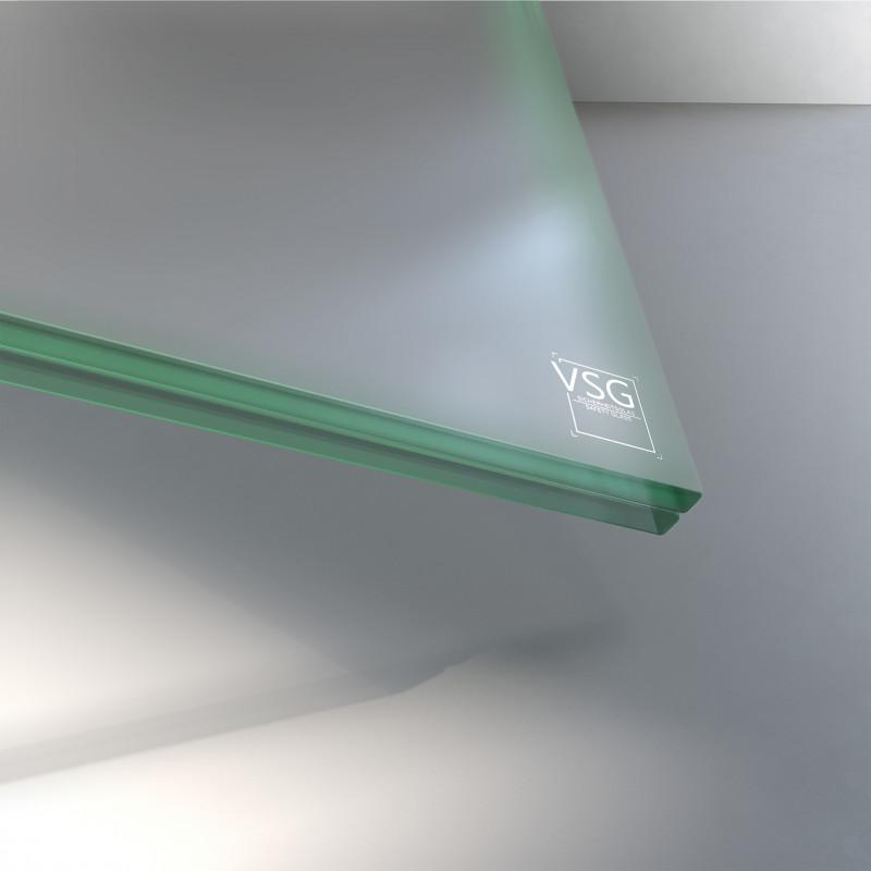 12 mm VSG Glas matt