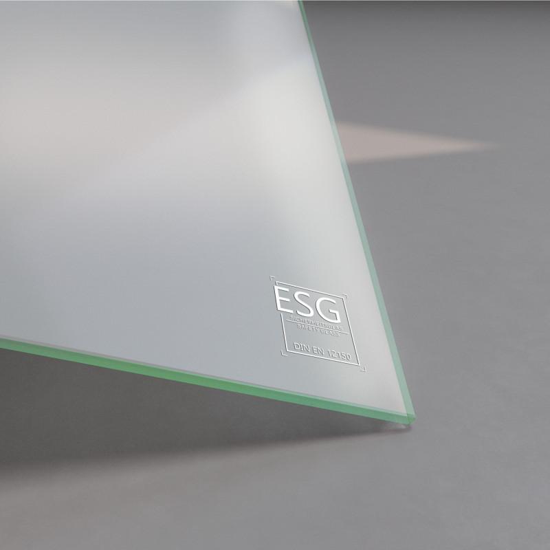 4 mm ESG Glas Satinato Milchglas-Optik