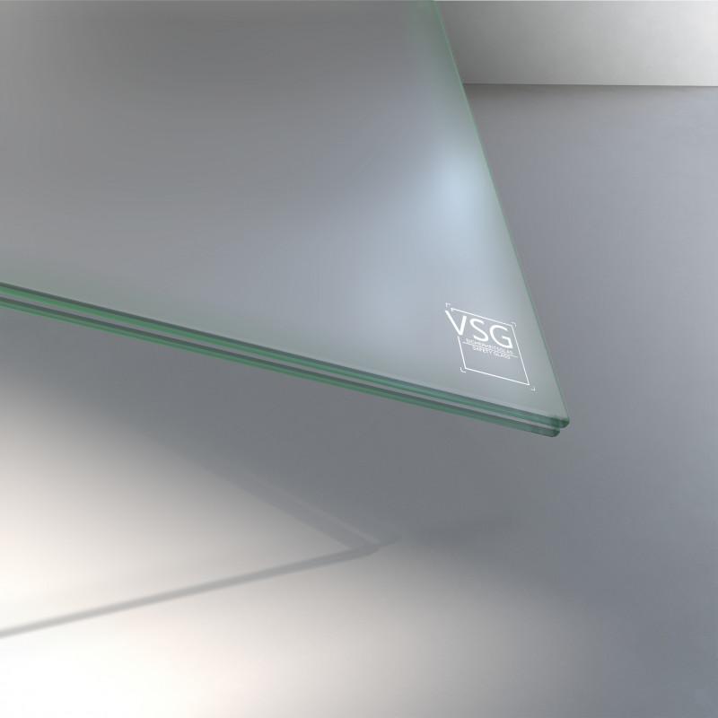 6 mm VSG Glas matt
