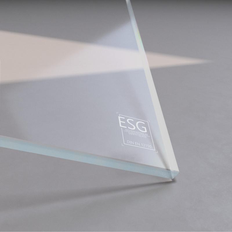 8 mm ESG Weißglas