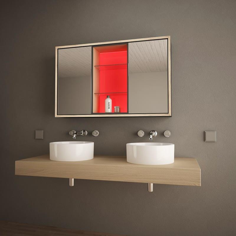 Bad-Spiegelschrank mit LED-Beleuchtung Illumino