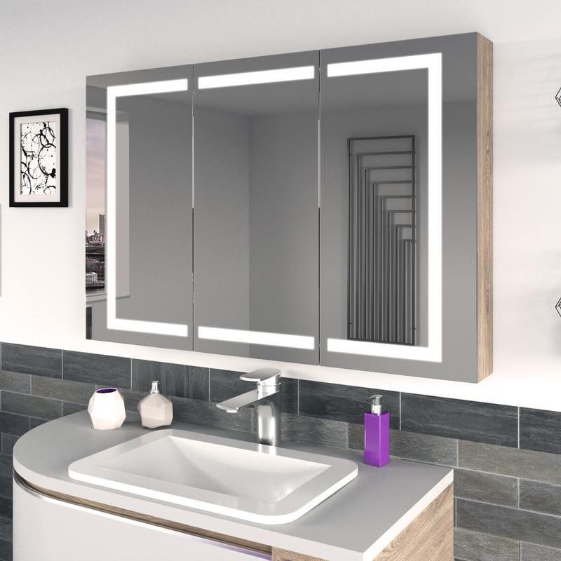 Badezimmer-Spiegelschrank mit LED Rameo