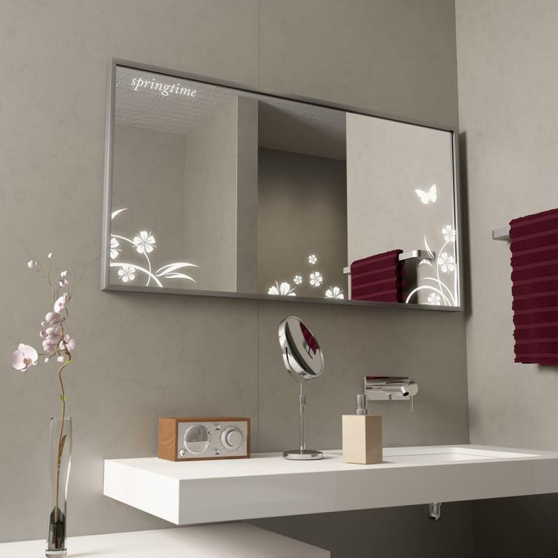 Badezimmer-Wandspiegel mit Alurahmen Fiori