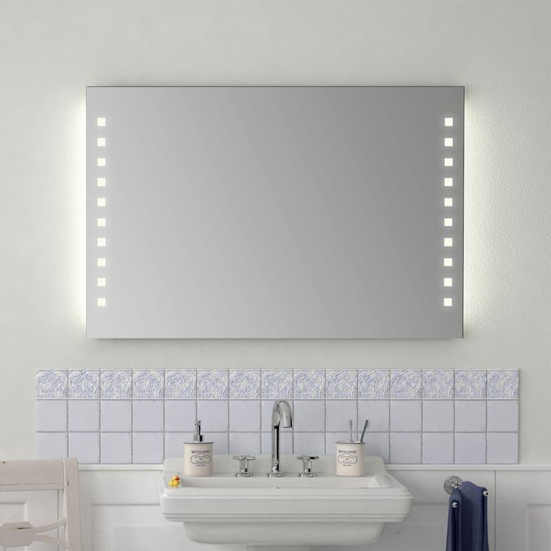 Badezimmer Wandspiegel mit Licht Emilia