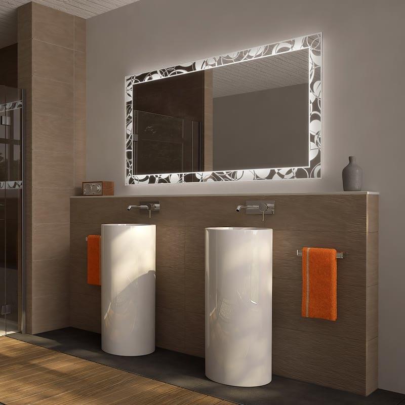 Badezimmerspiegel beleuchtet Ellipson