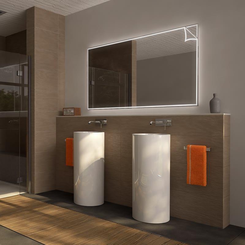 Badezimmerspiegel beleuchtet mit Motiv Sheets