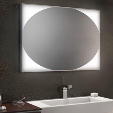 Badspiegel mit Alu-Rahmen Ellipse