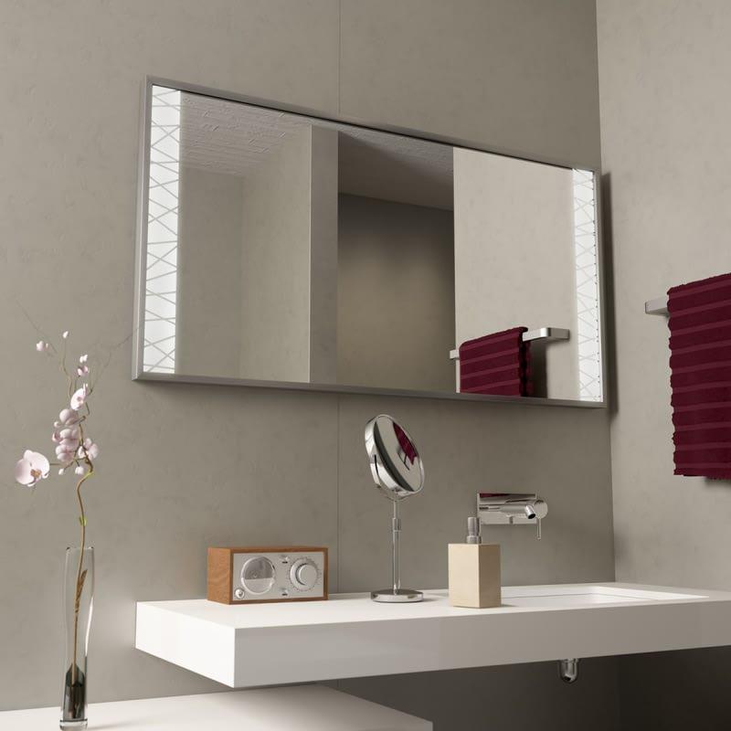 Badspiegel mit Alurahmen Wired Lines