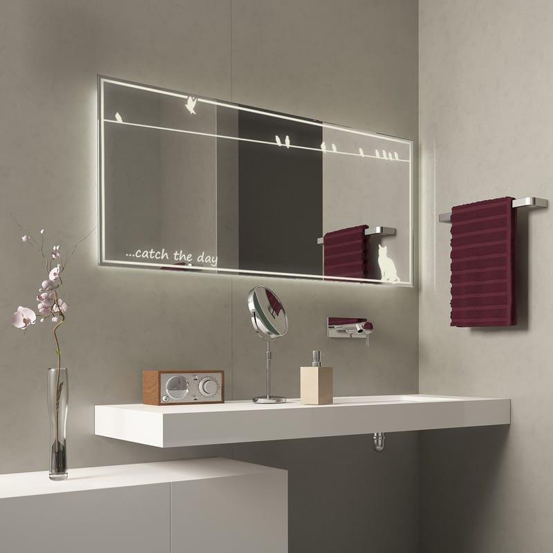Badspiegel mit Licht Catch the day