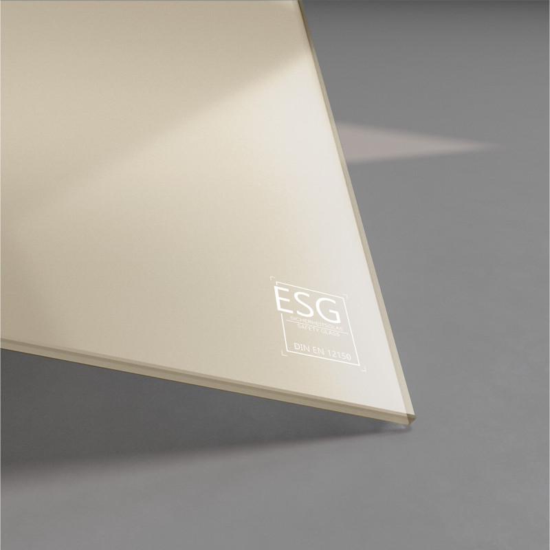 Beige / braun lackiertes ESG Glas nach Maß 4mm