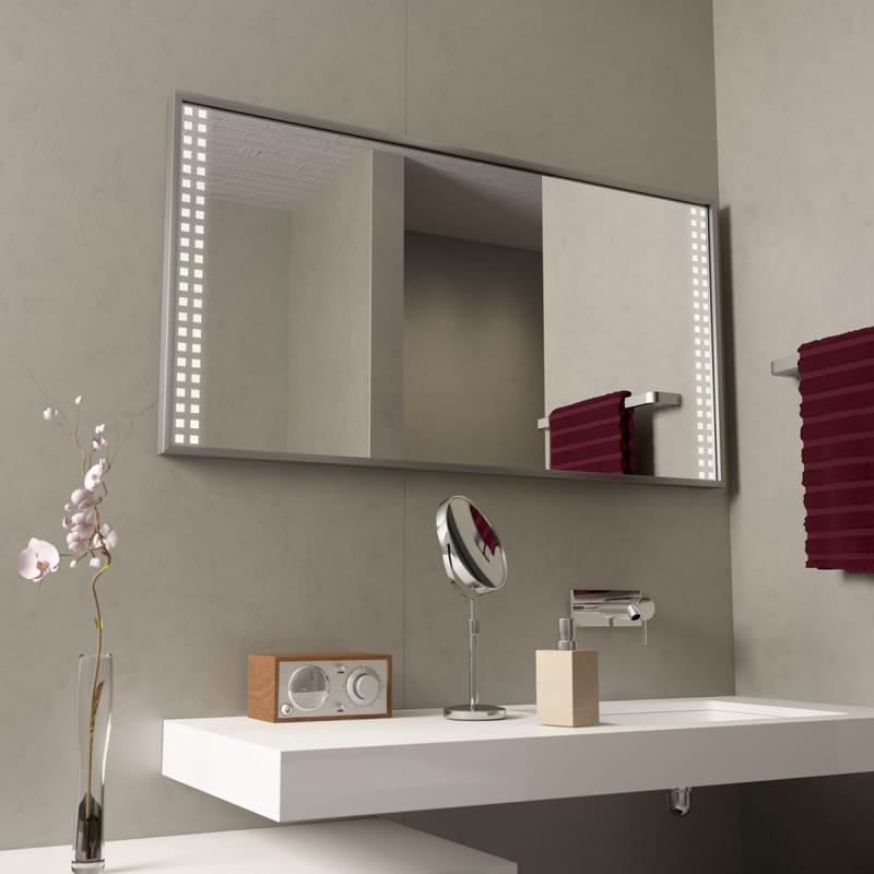 Beleuchteter Spiegel mit Alurahmen Caruso