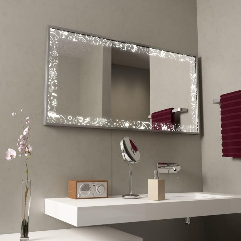 Beleuchteter Spiegel mit Alurahmen Fleura