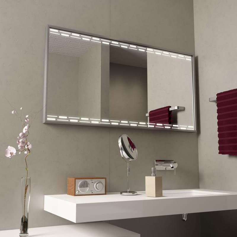 Beleuchteter Spiegel mit Alurahmen Switched