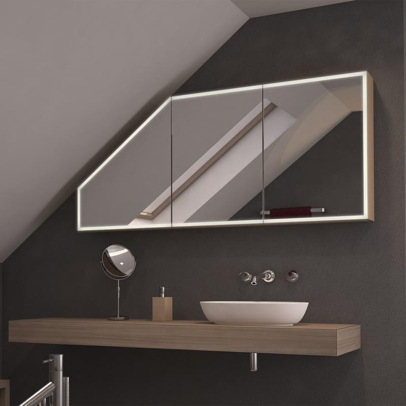Dachschrägen-Spiegelschrank Liberas
