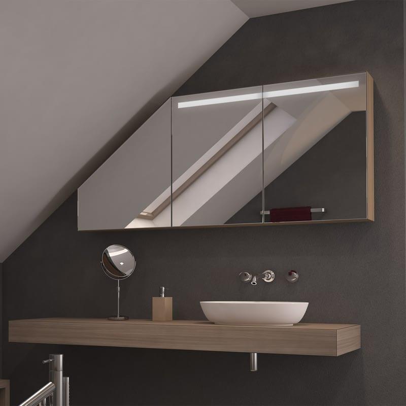 Dachschrägen-Spiegelschrank Odelio