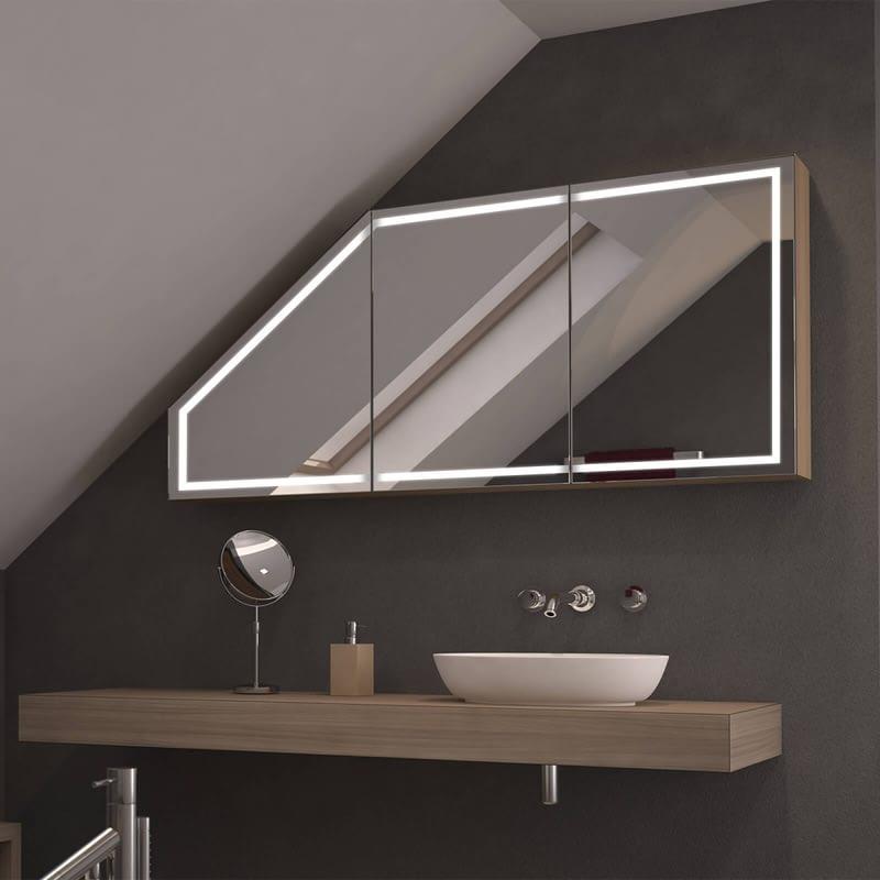 Dachschrägen-Spiegelschrank Remno