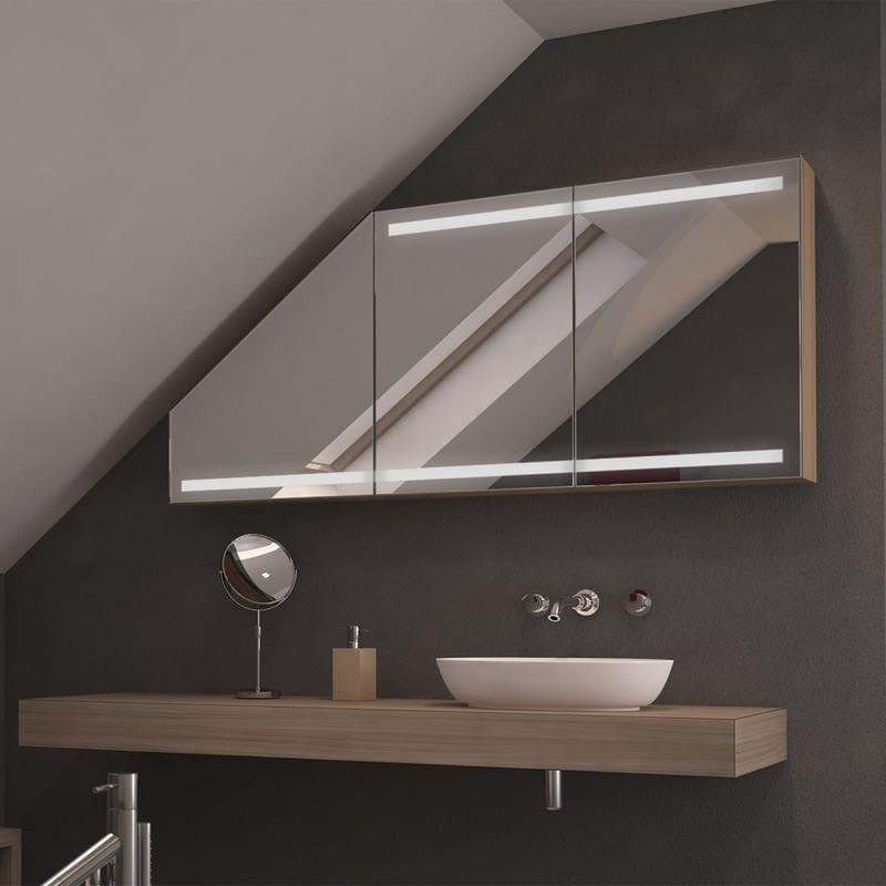 Dachschrägen-Spiegelschrank Severina