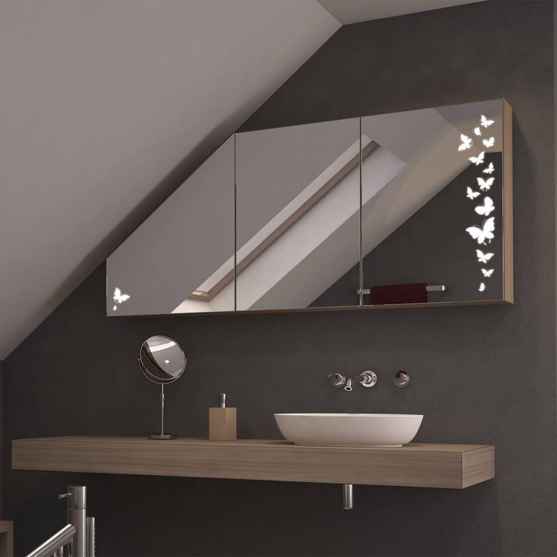 Dachschrägen-Spiegelschrank Ulm