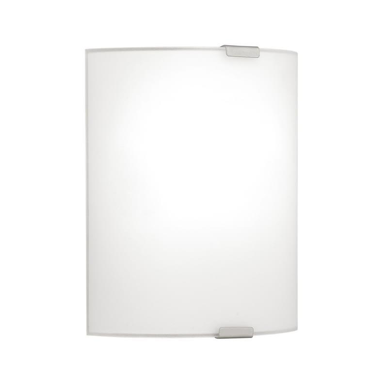 EGLO Wand-/Deckenleuchte Grafik mit Glas in Weiß - 180mm