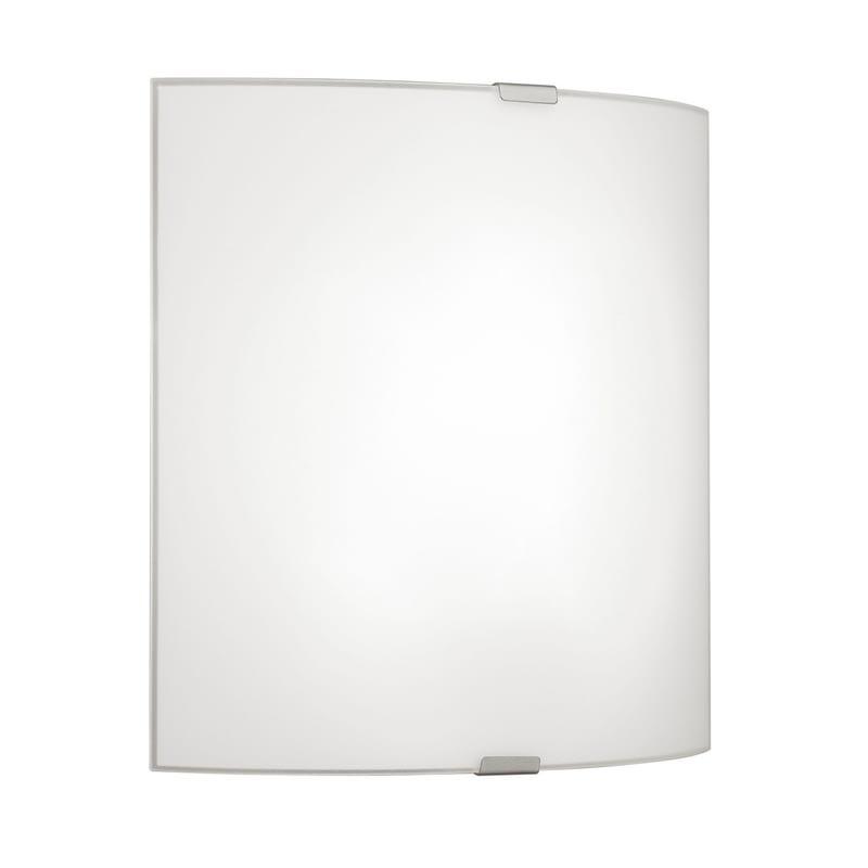 EGLO Wand-/Deckenleuchte Grafik mit Glas in Weiß - 280mm