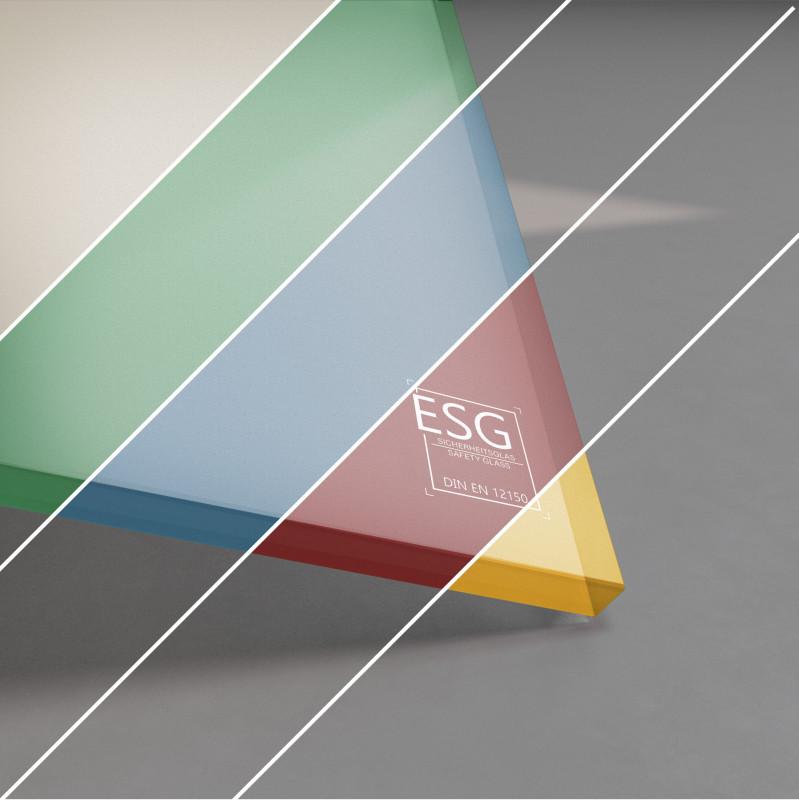 ESG Glas SATINATO lackiert 10 mm Farbe nach Wahl