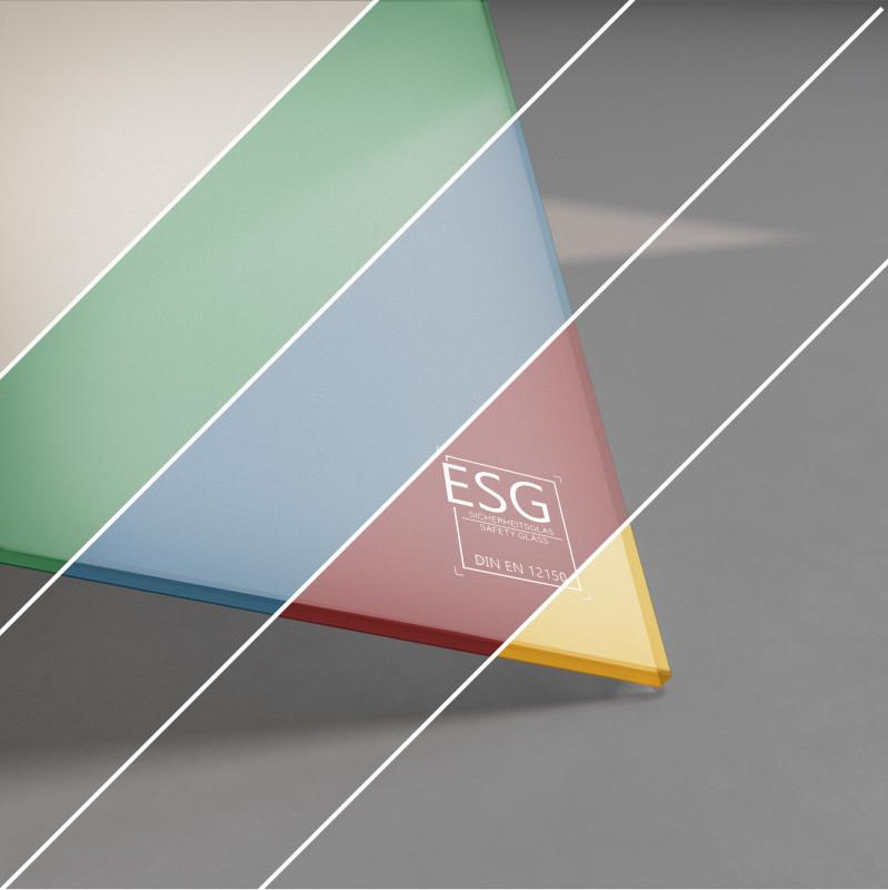 ESG Glas SATINATO lackiert 4 mm Farbe nach Wahl