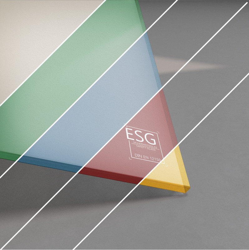 ESG Glas SATINATO lackiert 6 mm Farbe nach Wahl