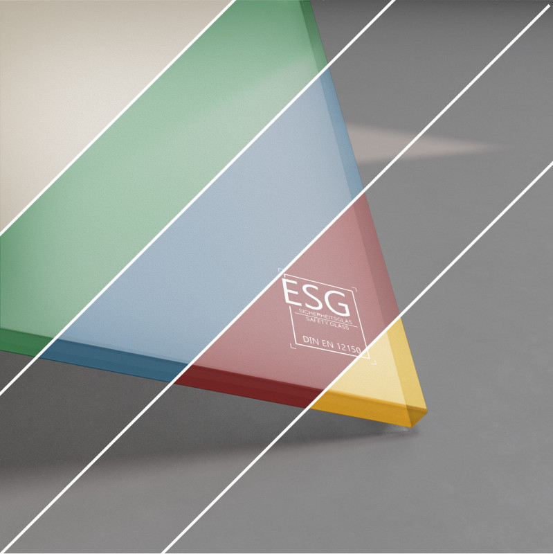 ESG Glas SATINATO lackiert 8 mm Farbe nach Wahl