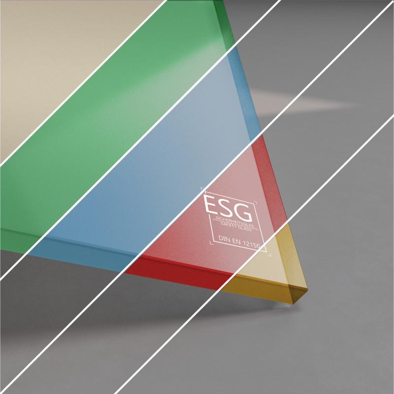 ESG Glas lackiert 10 mm RAL-/NCS-Farbe nach Wahl
