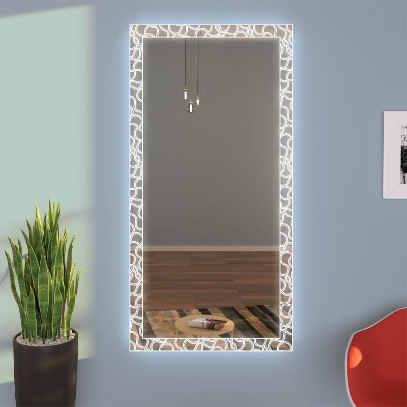 Exklusiver LED Wandspiegel Garderobe MINA