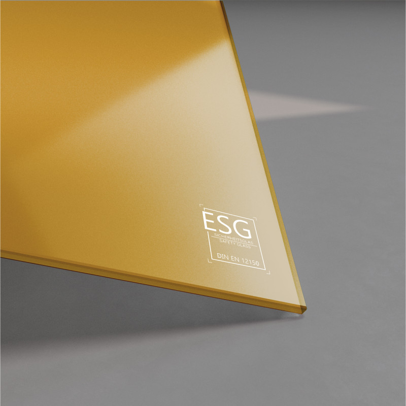 Gelb lackiertes ESG Glas nach Maß 4mm