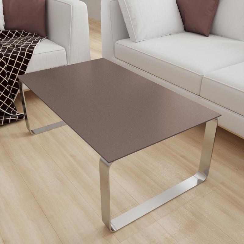 Glas Tischplatte Braun mit Glitzer - REF 9015, 6 mm