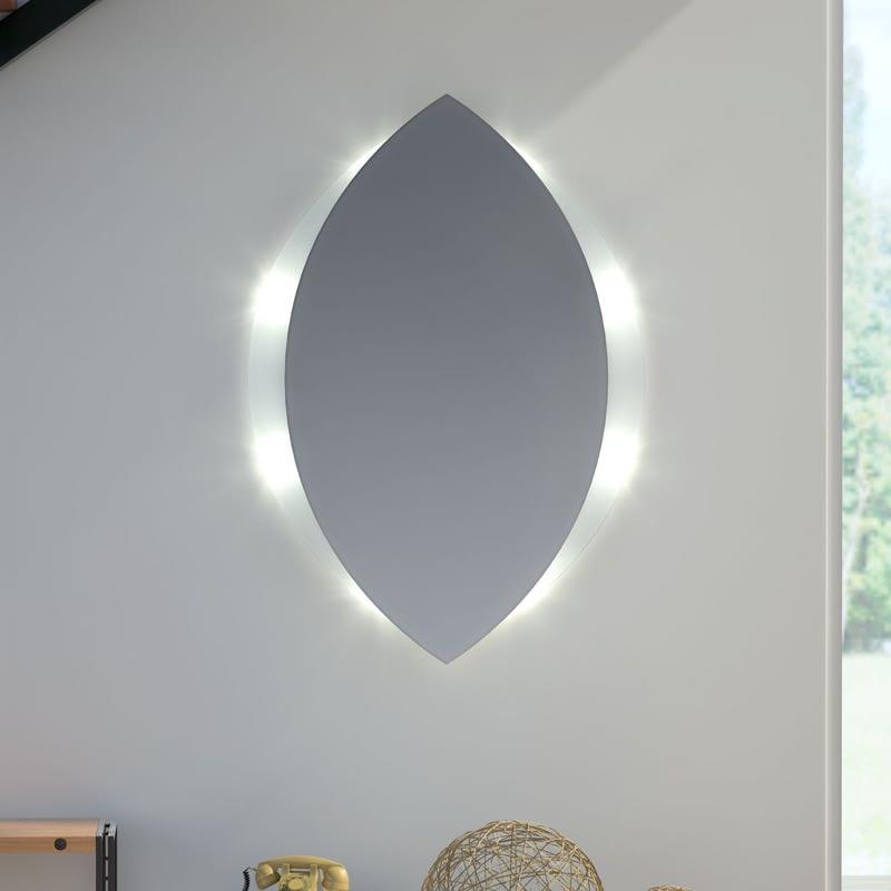 Glas auf Glas Spiegel mit Motiv Topas
