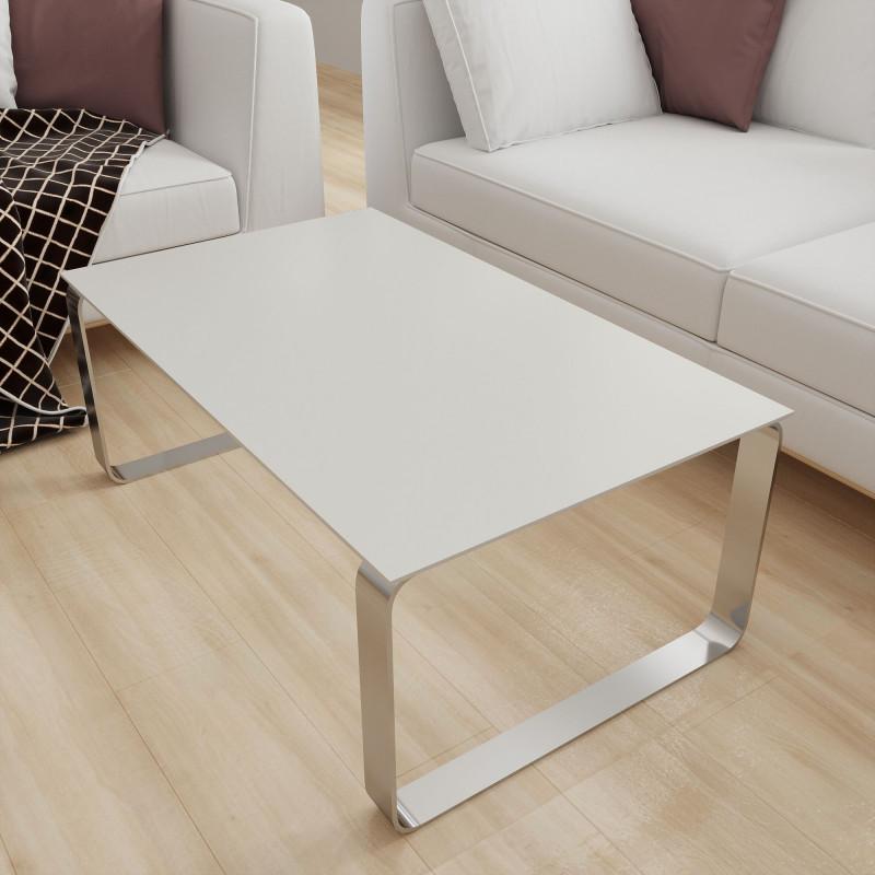 Glasplatte Tisch Creme-Weiß - REF 1013, 6 mm