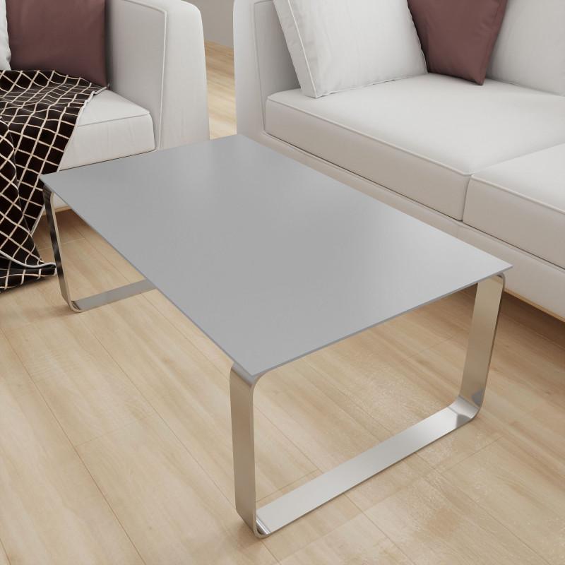 Glasplatte Tisch Grau - REF 9006, 6 mm