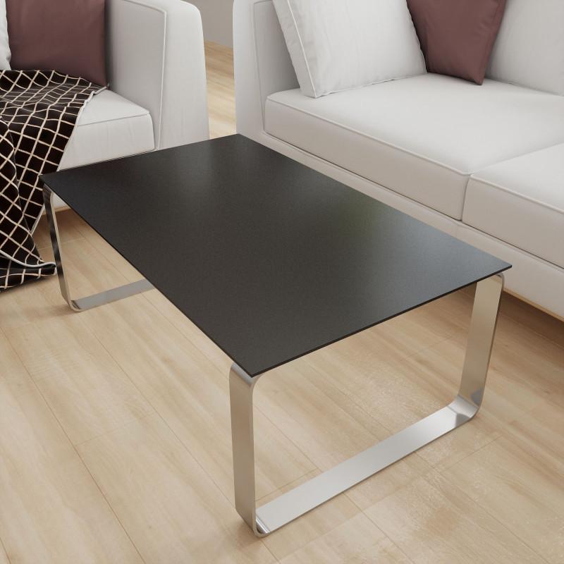 Glasplatte Tisch Schwarz mit Glitzer - REF 0337, 6 mm