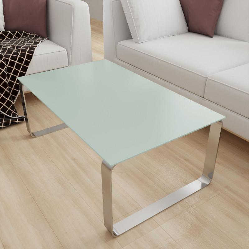 Glasplatte für Tisch Weiß-Grün - REF 8615, 6 mm