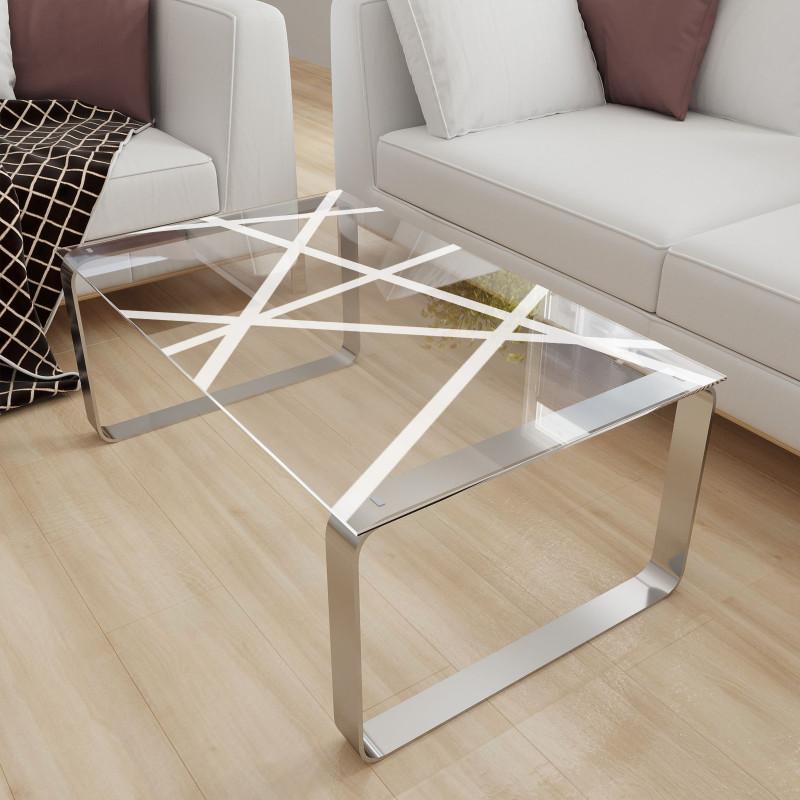 Glastischplatte satiniert mit Motiv - Moblex