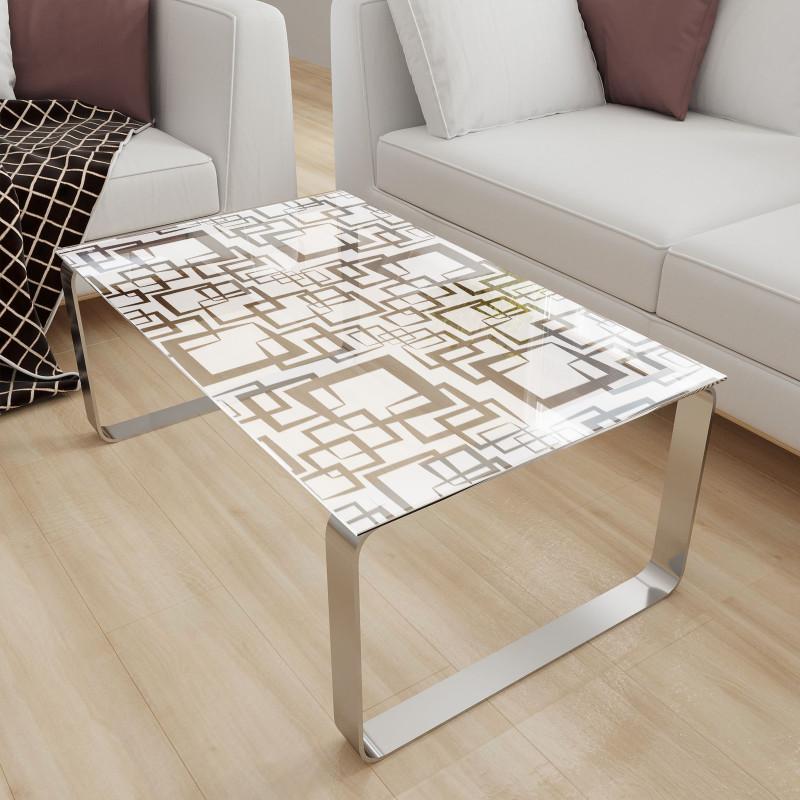 Glastischplatte satiniert mit Motiv - Nelio