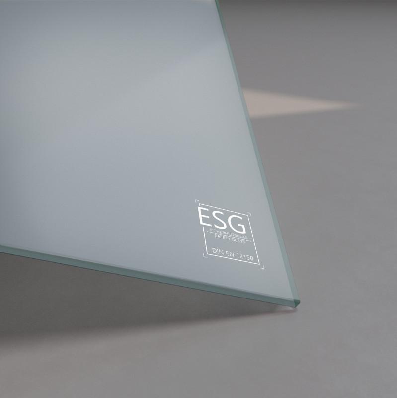Grau lackiertes ESG Glas SATINATO 4mm