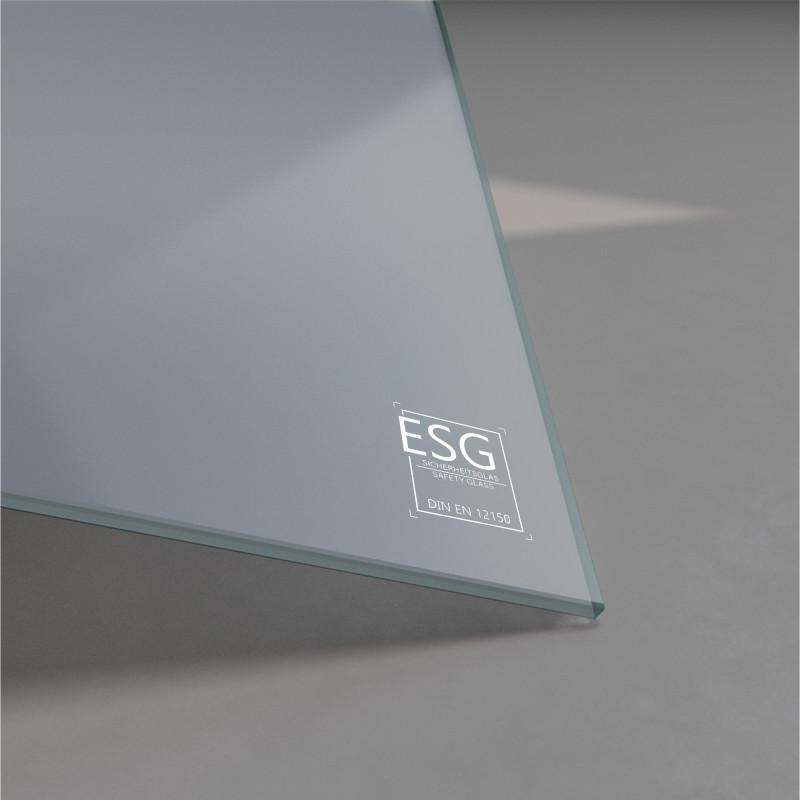Grau lackiertes ESG Glas nach Maß 4mm