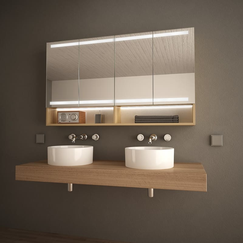 Holz-Spiegelschrank für das Bad Armario