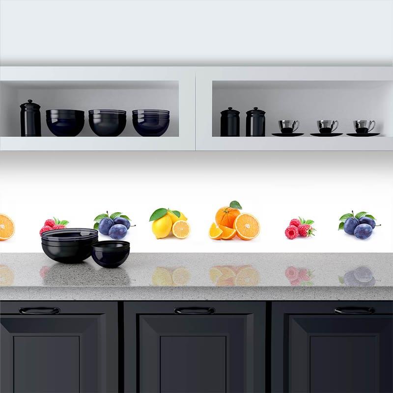 Küchenrückwand aus Glas Früchte