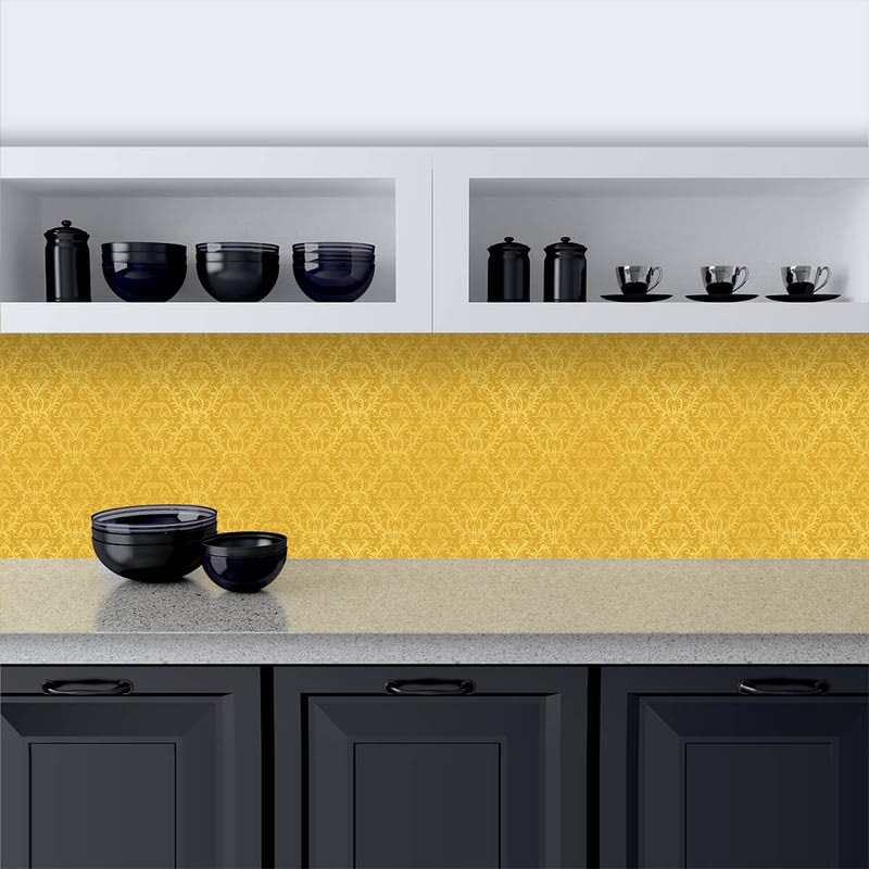 Küchenrückwand aus Glas Golden Ornaments