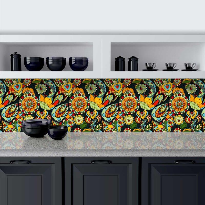 Küchenrückwand aus Glas Lophorina