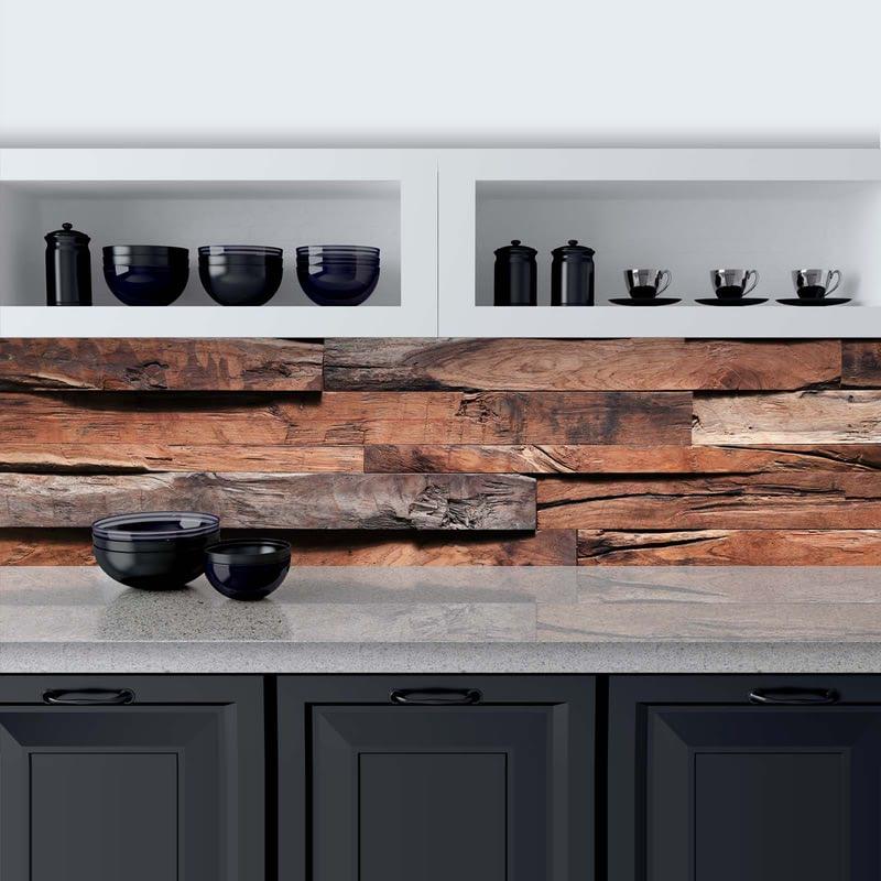 Küchenrückwand aus Glas Wood