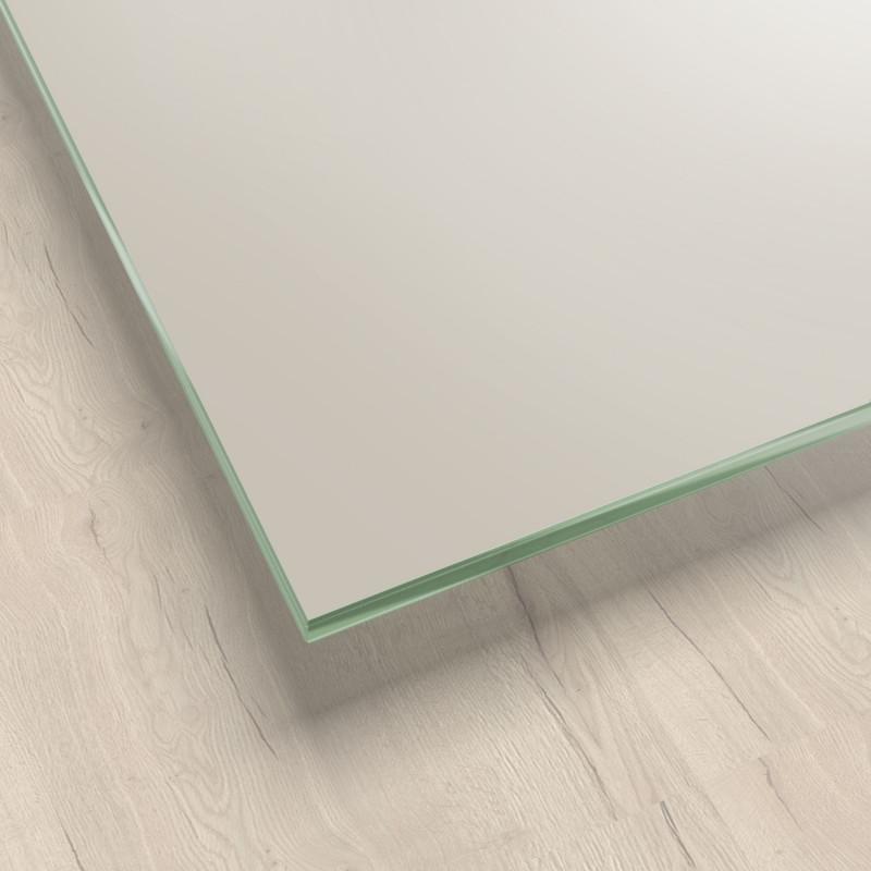 Lackiertes Glas - Cremeweiß / Weiß - REF 1013, 6mm