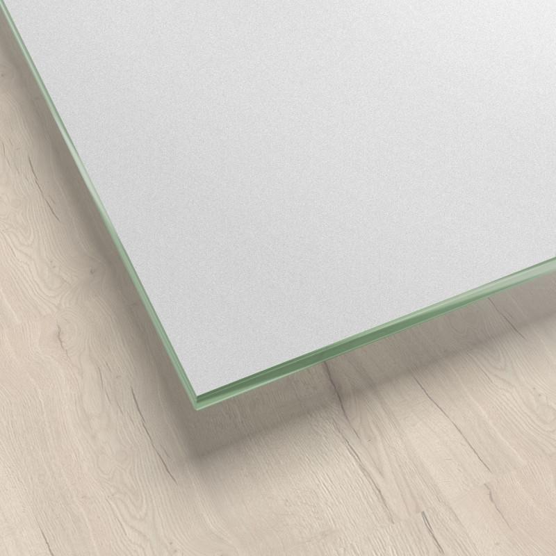 Lackiertes Glas - Grau metallisch glänzend - REF 9007, 6mm